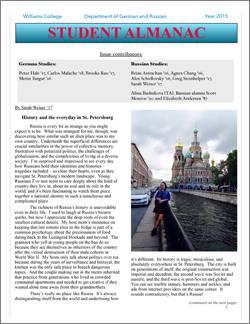 German Russian Student Almanac 2015